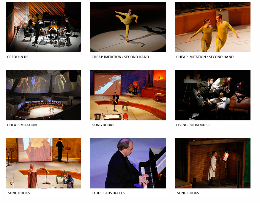 Image gallery from performances on 'Making the Right Choices: A John Cage Celebration' (screenshot by the author for Hyperallergic)