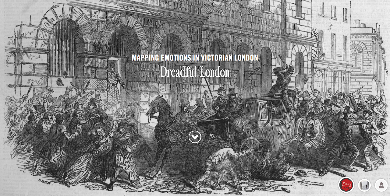 """Landing page for """"Dreadful London"""" on Mapping Emotions in Victorian London"""