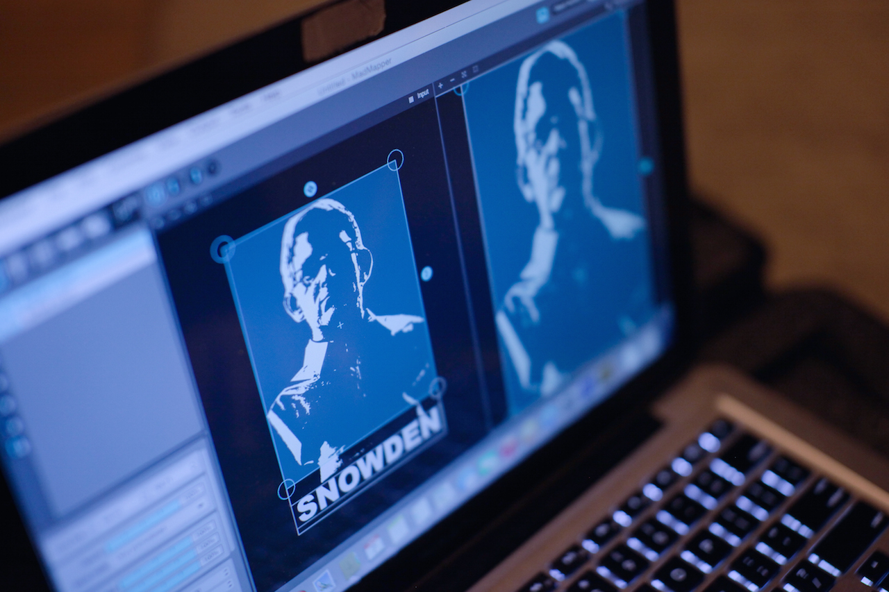 Tweaking the image of Snowden on site