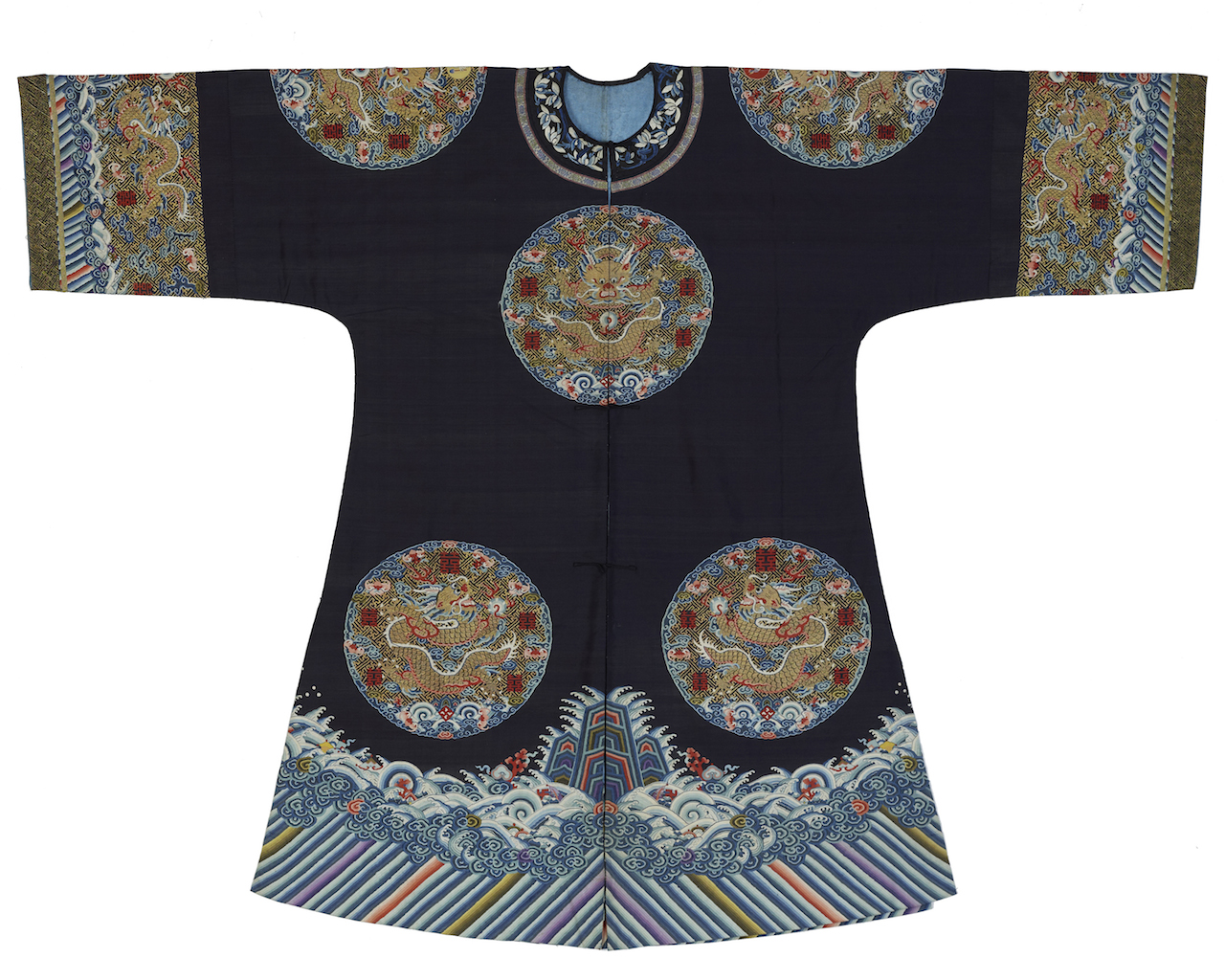 Empress Dowager's surcoat, front, China, late 19th century, 46.9 x 63.9 in. (gift of The Florence Eddowes Morris Collection, Goucher College)
