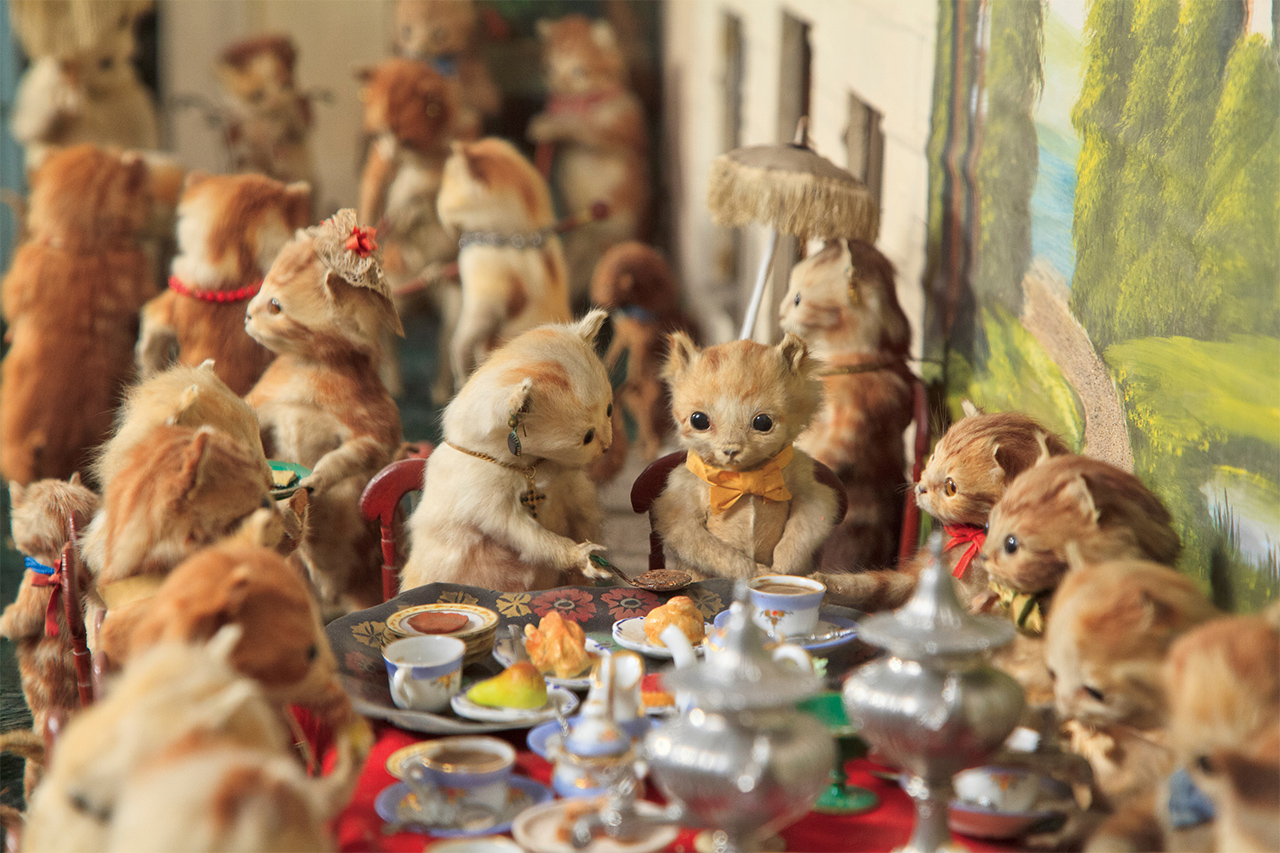 "Walter Potter, detail of ""The Kittens' Tea Party"" (photo by Joanna Ebenstein)"