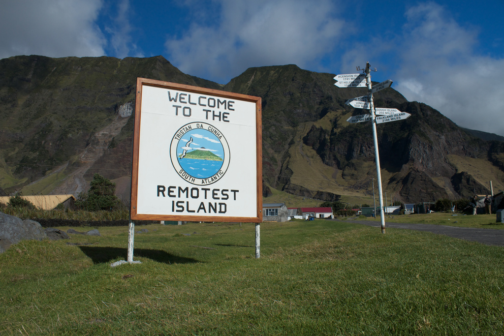 """""""Welcome to the remotest island"""" (photograph by Brian Gratwicke, via Flickr)"""