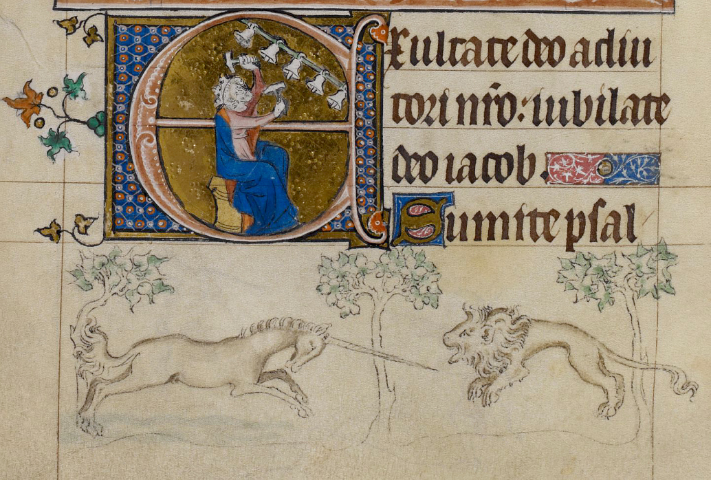 """Illustration from """"The Queen Mary Psalter"""" (1310-1320) (via British Library)"""
