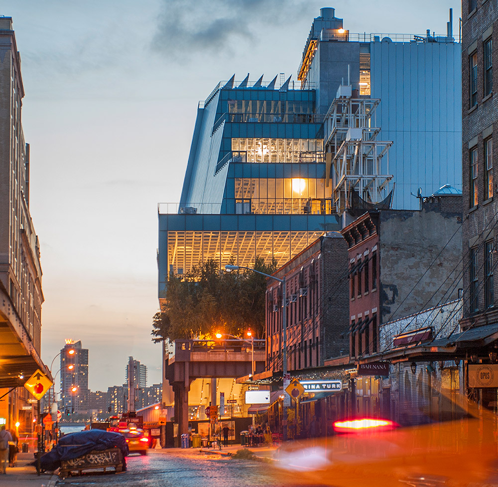 View of the new Whitney Museum from Gansevoort Street (photo by Karin Jobst, 2014; courtesy the Whitney Museum)