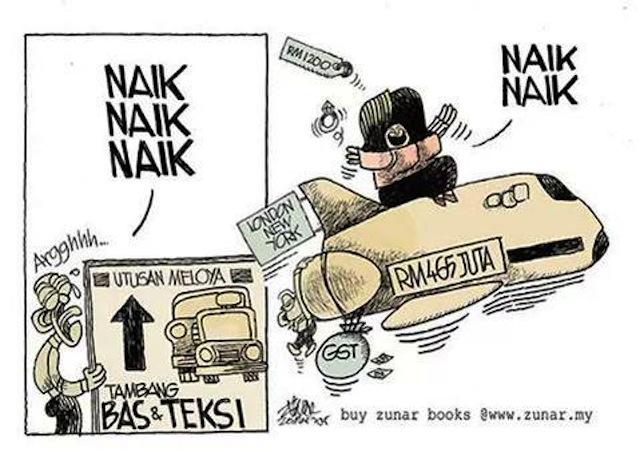 Cartoon by Zunar (Image via Twitter)