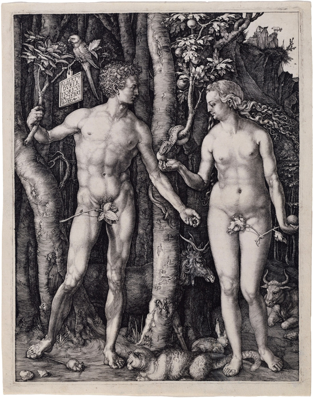 """Albrecht Dürer's """"Adam and Eve"""" engraving also went missing at the library (Image via Wikimedia)"""