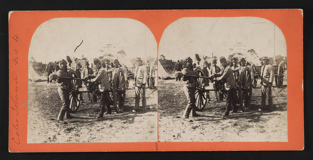 Coles Island, no. 4 Creator(s)- Osborn & Durbec, photographers Date Created:Published- [Charleston, S.C.] - [Osborn & Durbec's Southern Stereoscopic & Photographic Depot?] [between 1860 and 1861]