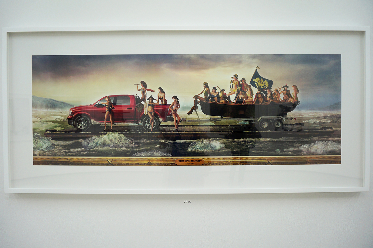 """Hank Willis Thomas, """"Just as our Forefathers intended, 2015/2015"""" (2015), digital chromogenic print, 27 7/16 x 61 x 1 3/4 in (framed) (click to enlarge)"""