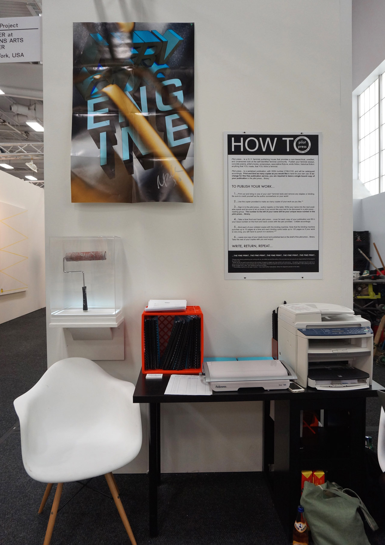 The booth of Parmer at Abrons Arts Center's