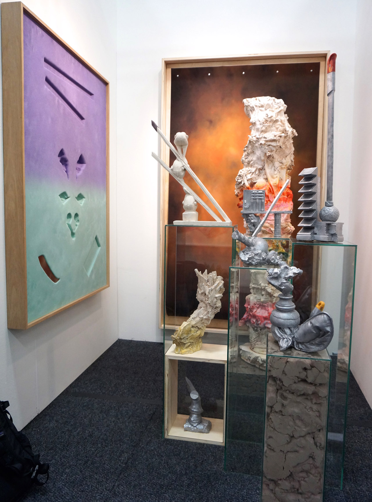 Anders Hollen's installation in the helper + LYNX Projects booth