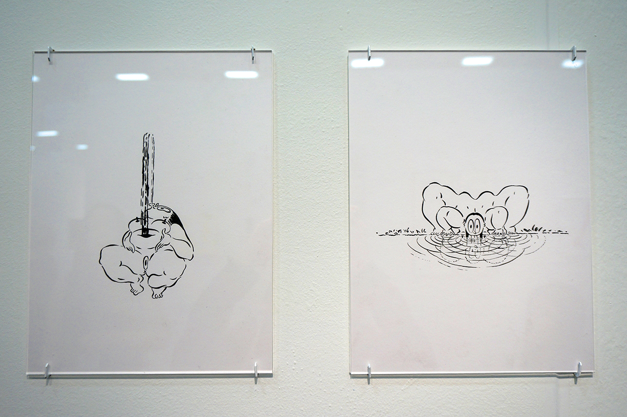 Drawings by Ebecho Muslimova at Room East