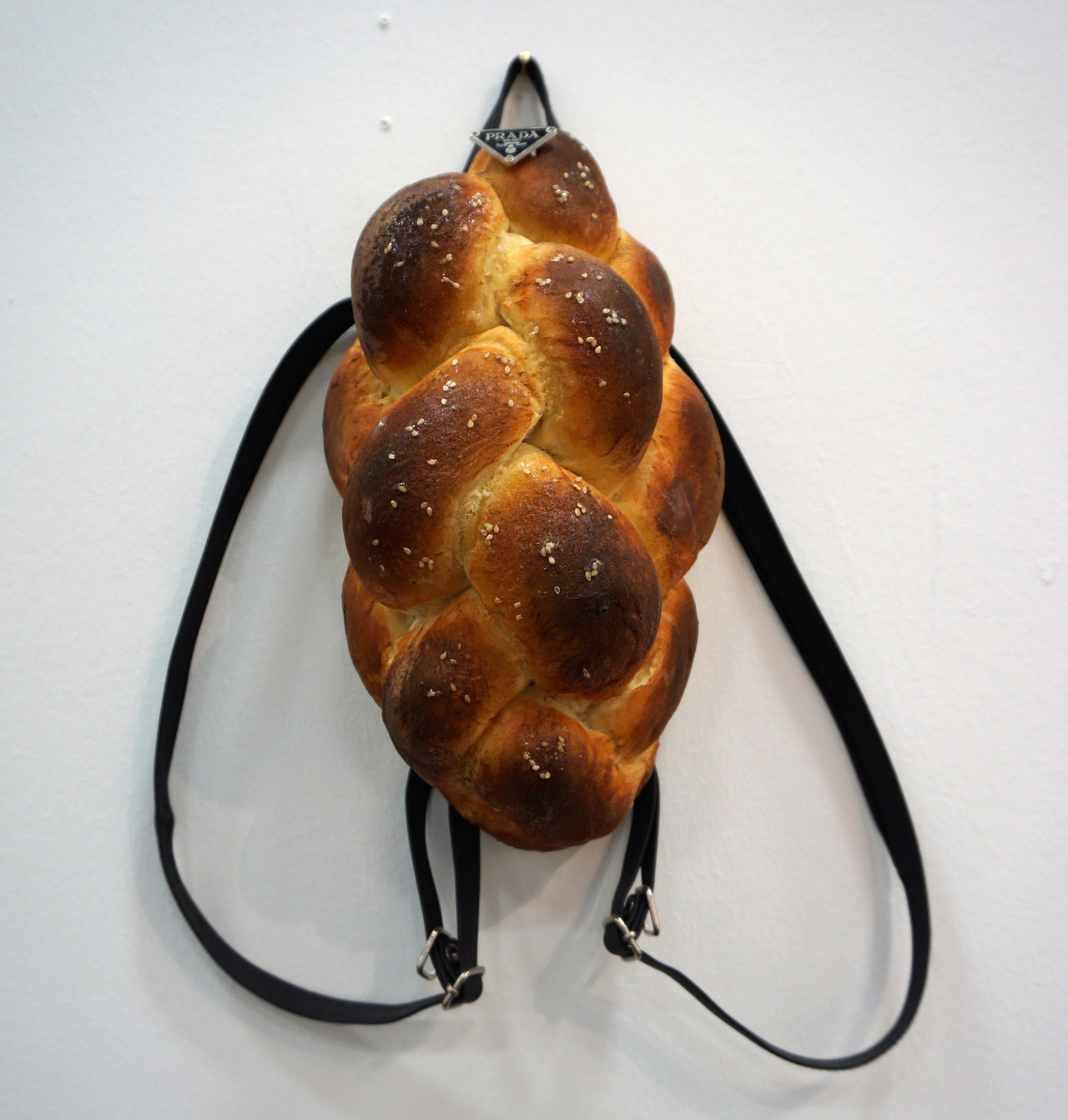 """Chloe Wise, """"Ain't No Challah Back (Pack) Girl"""" (2015), at the booth of Galerie Division"""