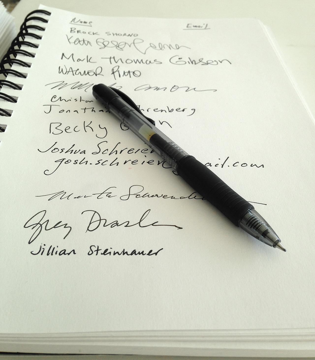 Pen at Edlin Gallery