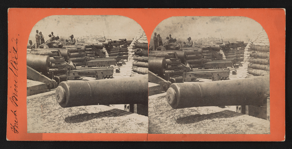 Fort Moultrie, no. 3 Creator(s)- Osborn & Durbec, photographers Date Created:Published- [Charleston, S.C.] - [Osborn & Durbec's Southern Stereoscopic & Photographic Depot?] [1860]