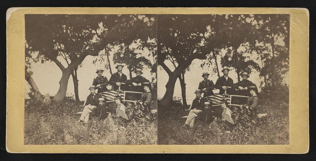 Group taken at Blythwood Plantation, Ladies Is. [i.e. Island], opposite Beaufort, S.C. - Hubbard & Mix