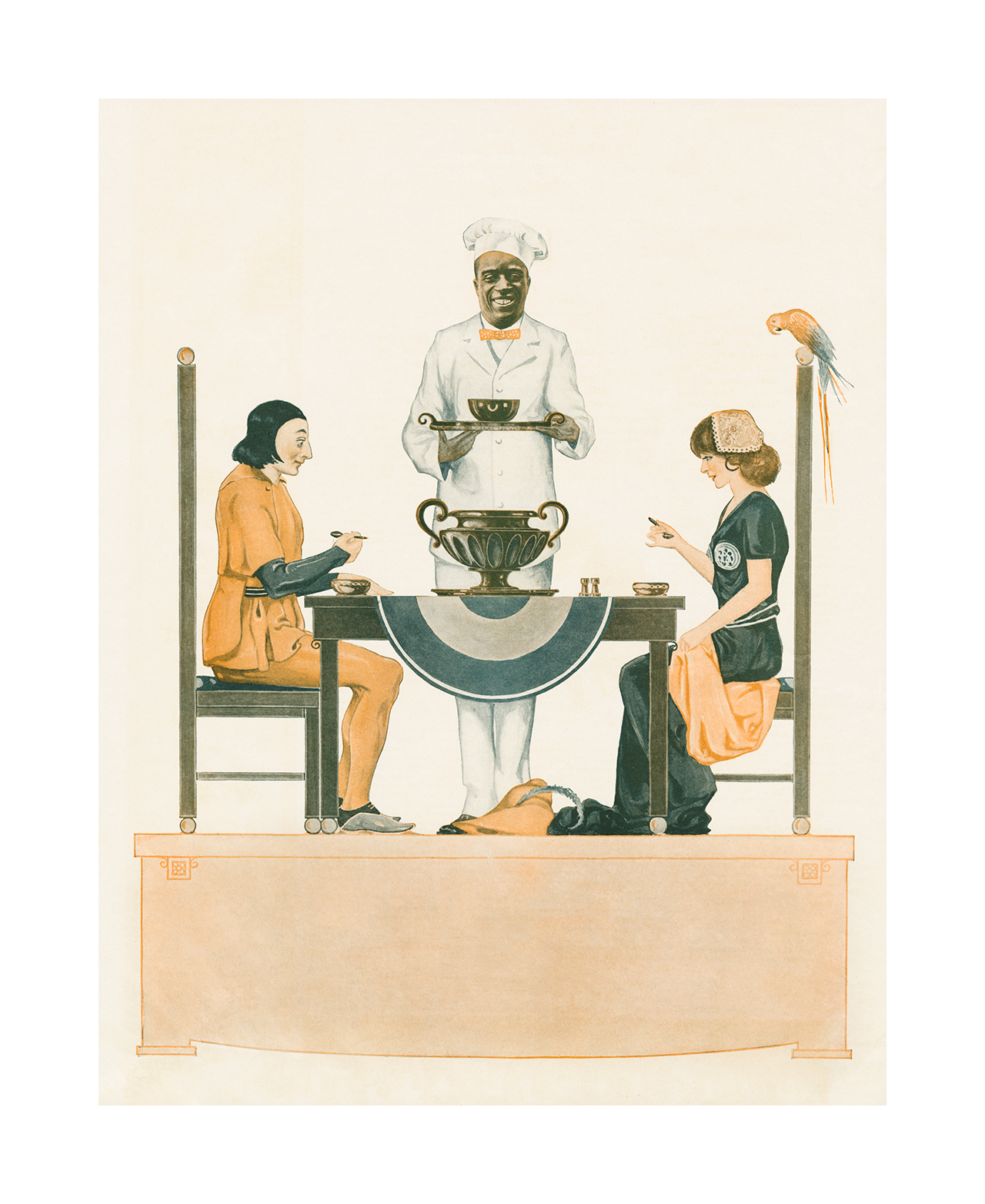 """Hank Willis Thomas, """"The Breakfast Belle, 1915/2015"""" (2015), digital chromogenic print,  48 7/8 x 40 in (paper size), 50 x 41 x 1 3/4 in (framed) (image courtesy the artist and Jack Shainman Gallery, New York) (click to enlarge)"""