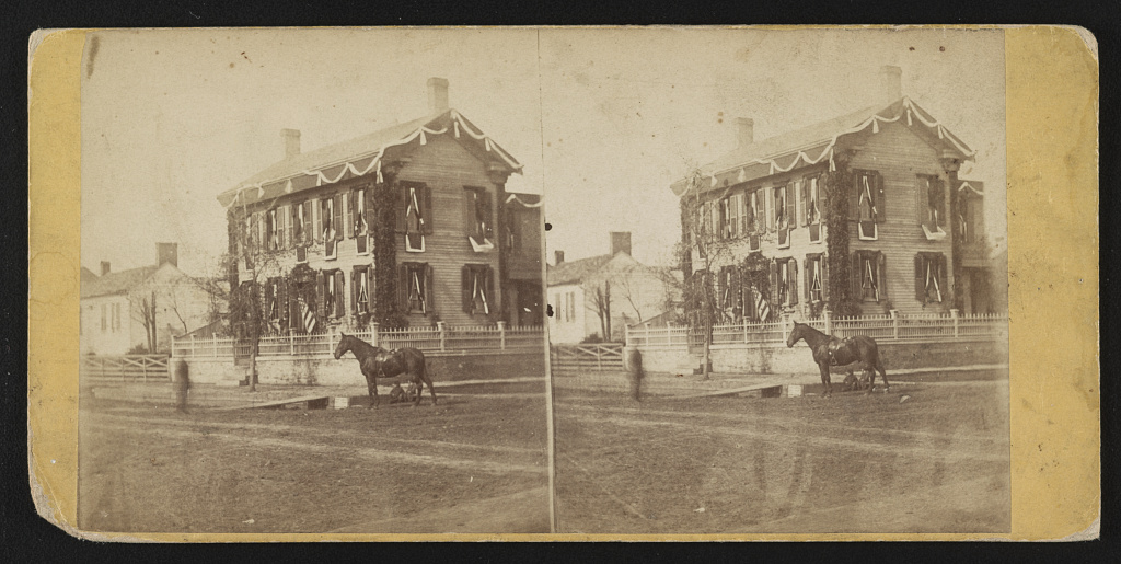 Home of Abraham Lincoln Creator(s)- Glover, Ridgway, 1831-1866, photographer Date Created:Published- [Philadelphia?] - [Schreiber & Glover, 818 Arch Street?], [1865]