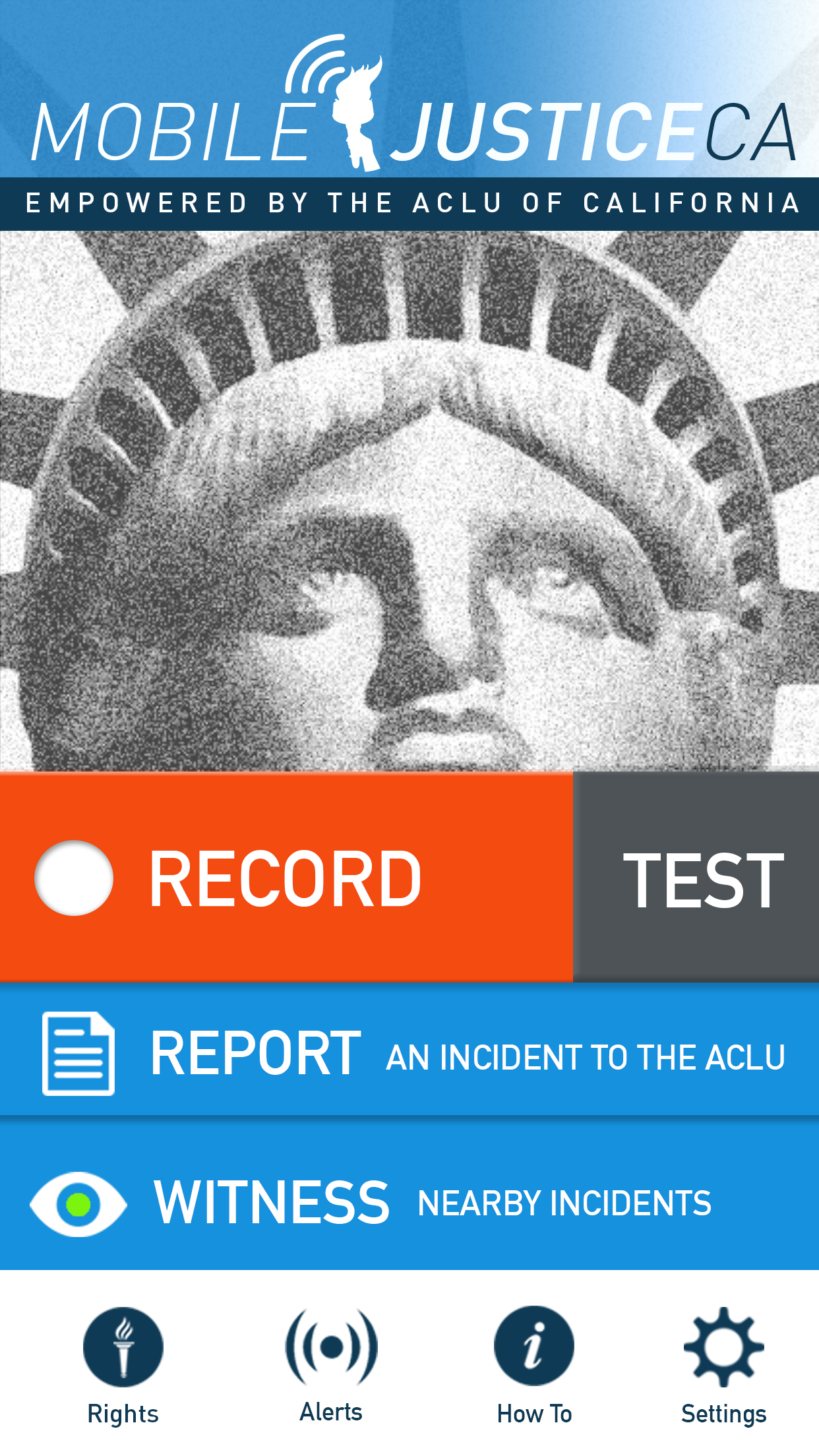 The dashboard of Mobile Justice (image courtesy ACLU SoCal) (click to enlarge)