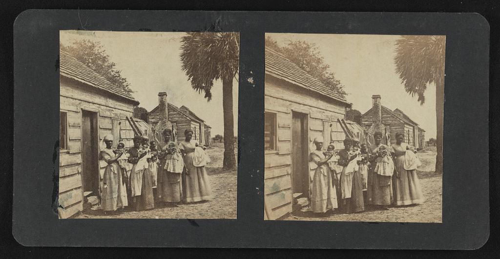Negro quarters, T.J. Fripp plantation, St. Helena Island (near Beaufort), S.C. - Hubbard & Mix
