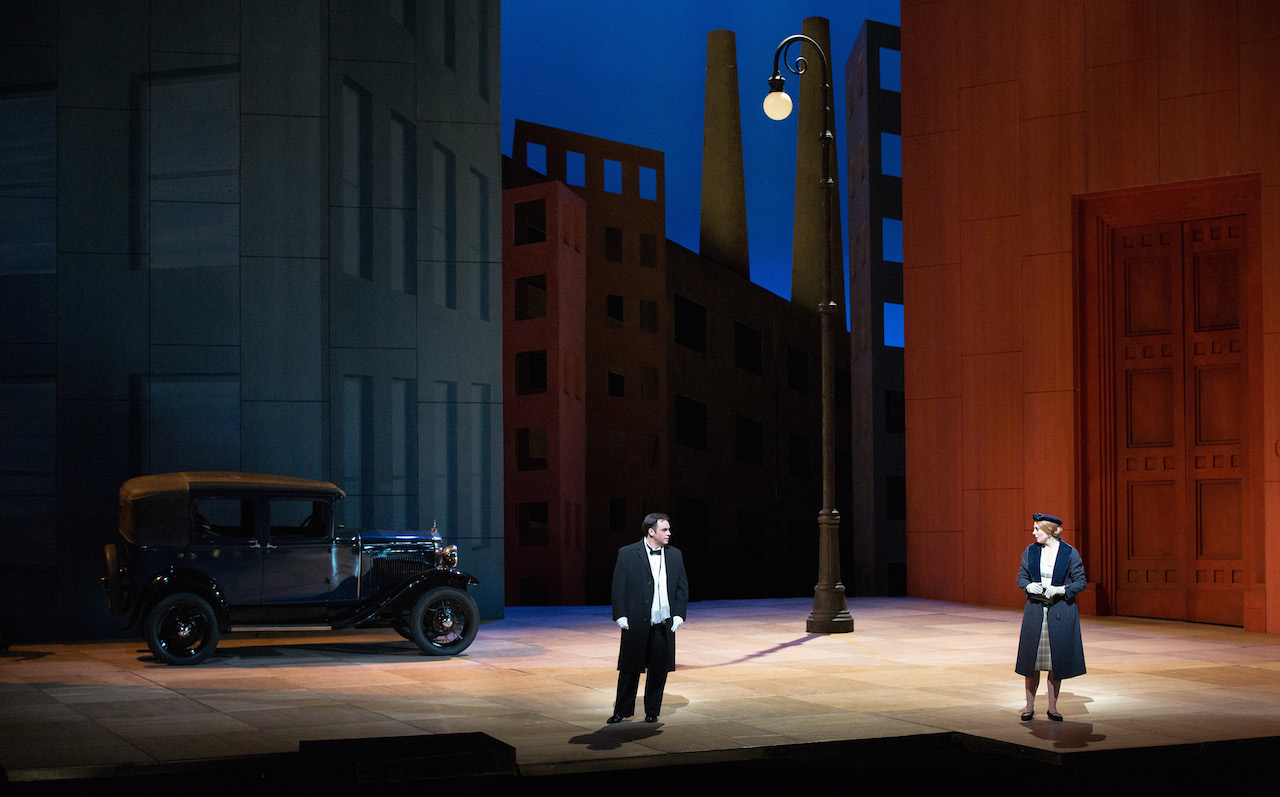 """Paul Appleby as Tom Rakewell and Layla Claire as Anne Trulove in Stravinksky's """"The Rake's Progress."""""""