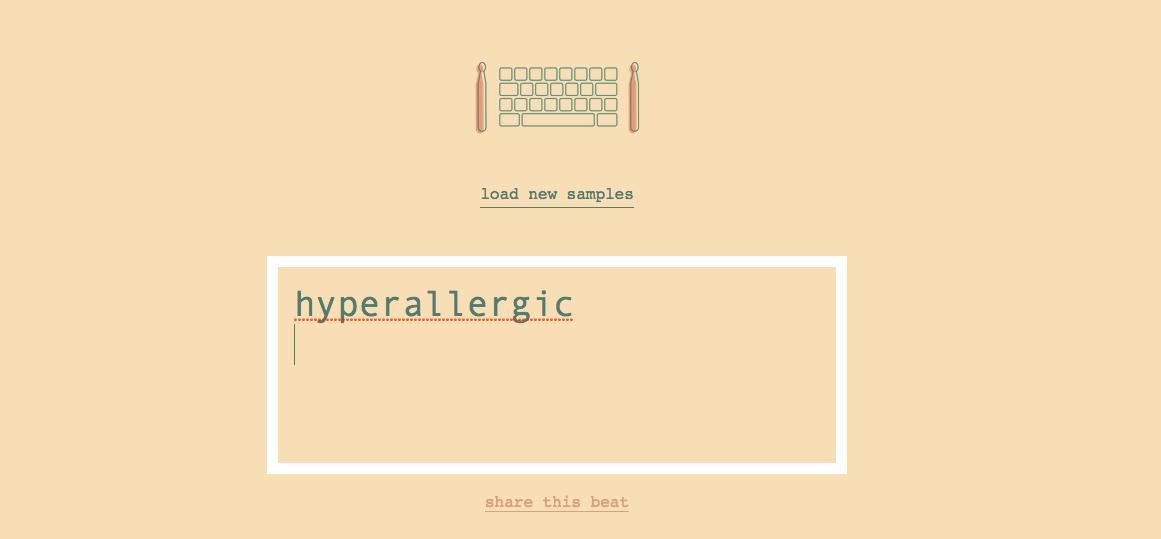 The TypeDrummer website