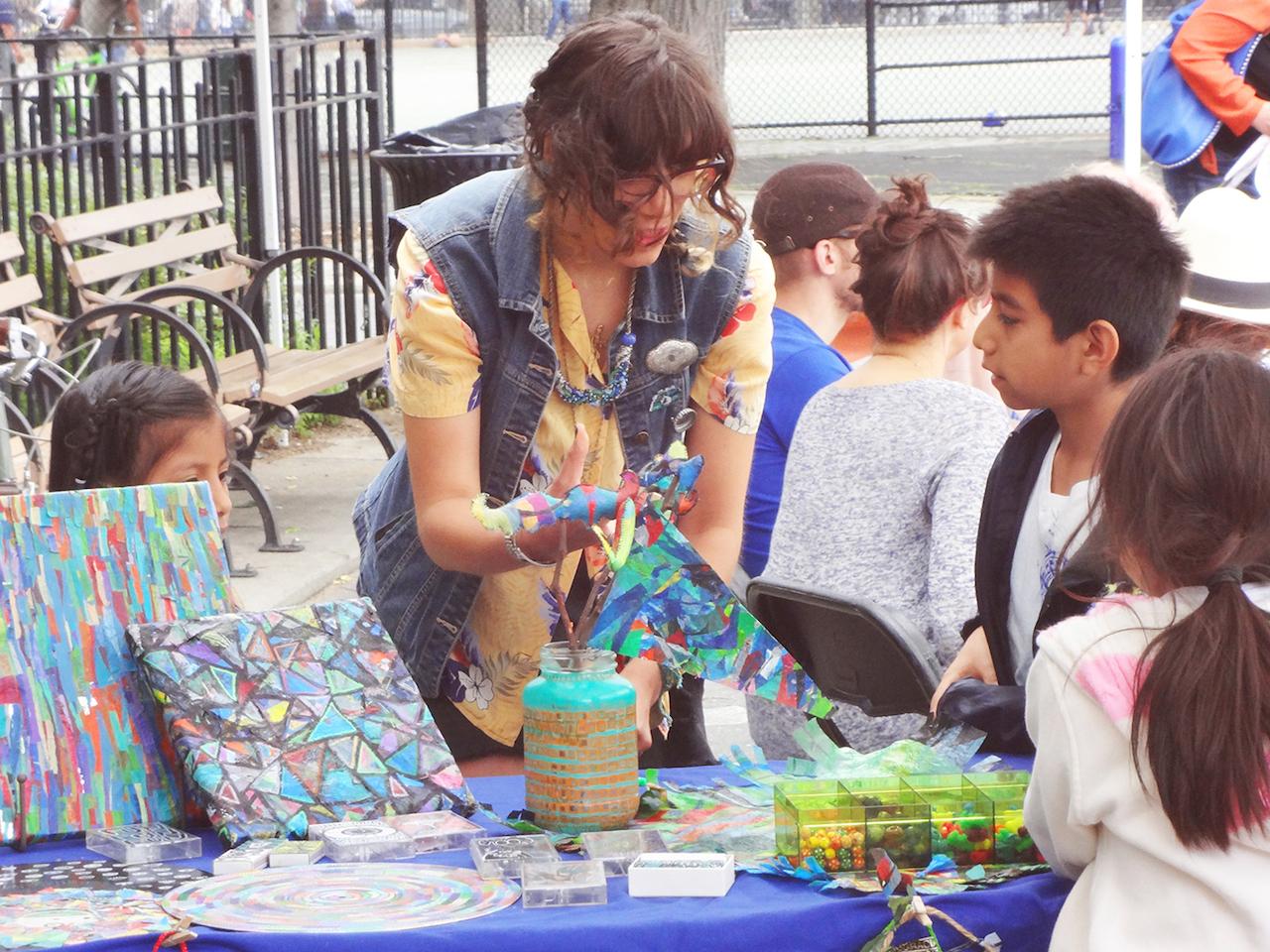 Bushwick Open Studios 2014 Community Day in Maria Hernandez Park (photo by Peter Hamernick, courtesy Arts in Bushwick)