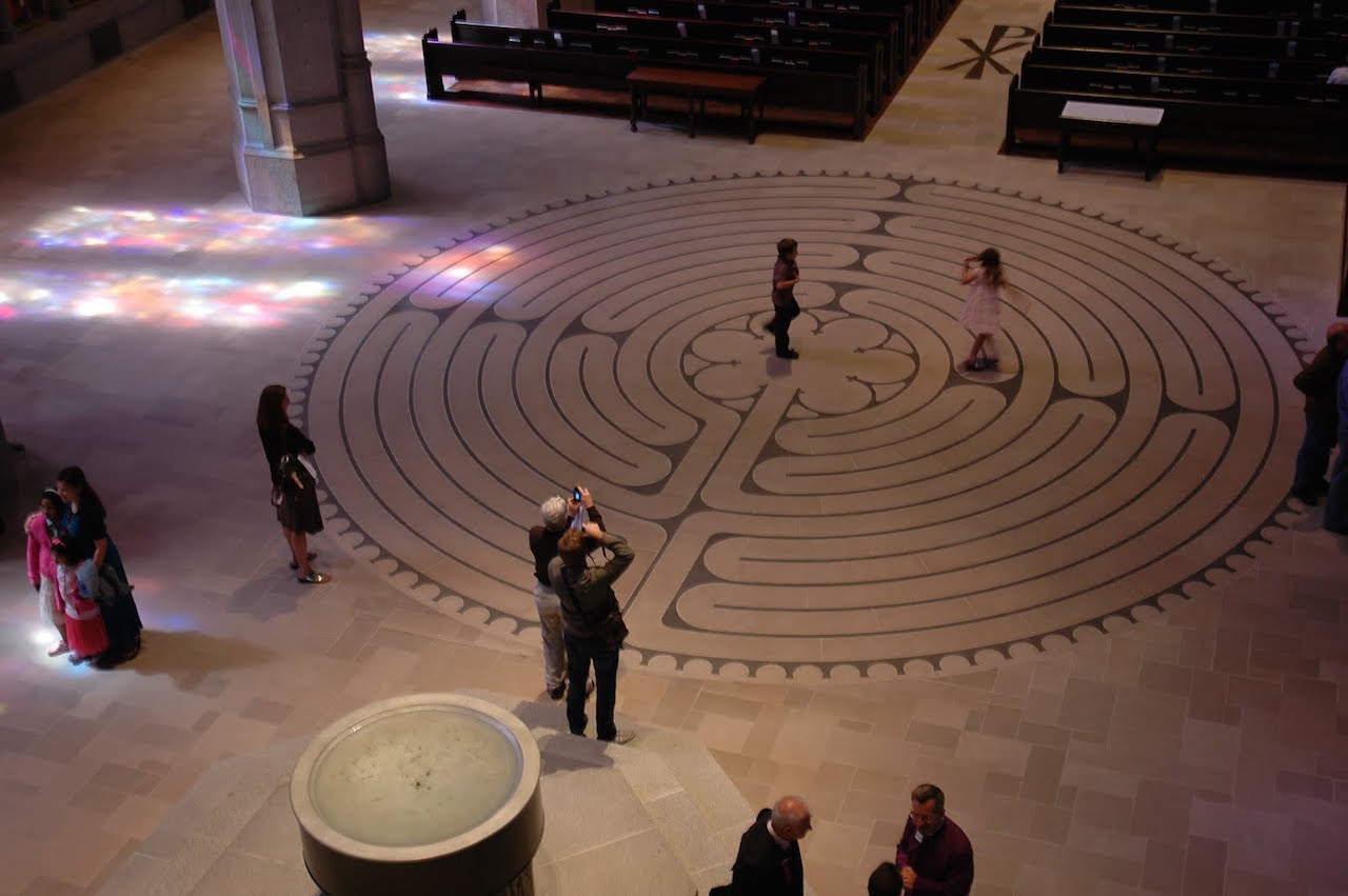 Anonymous Artists, Labyrinth, Chartes Cathedral, early 13th century  (image via http://fashions-cloud.com/pages/c/chartres-cathedral-labyrinth/)