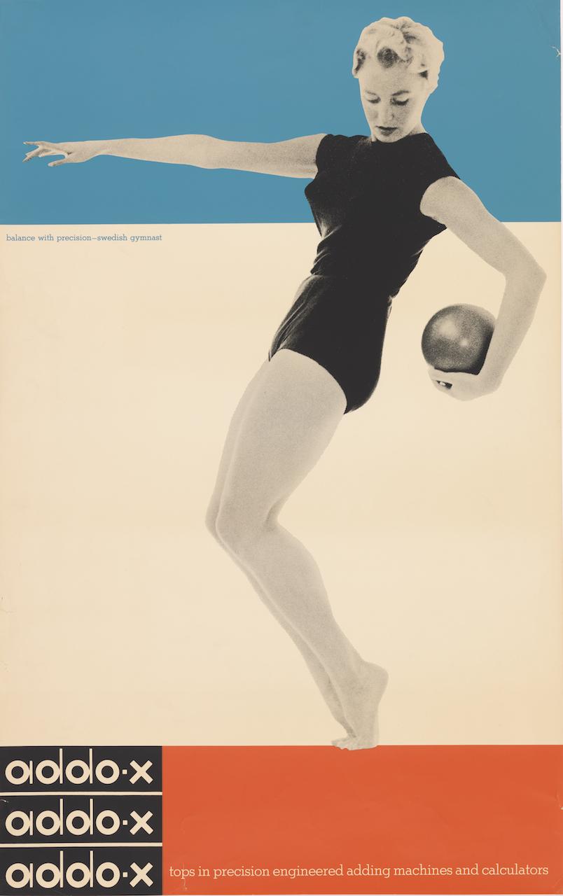 "Ladislav Sutnar, for A. B. Addo, ""Addo-x"" (1958), offset lithograph, 38 1/8 x 24 1/8 in. Photo by Matt Flynn, courtesy Cooper Hewitt, Smithsonian Design Museum)"