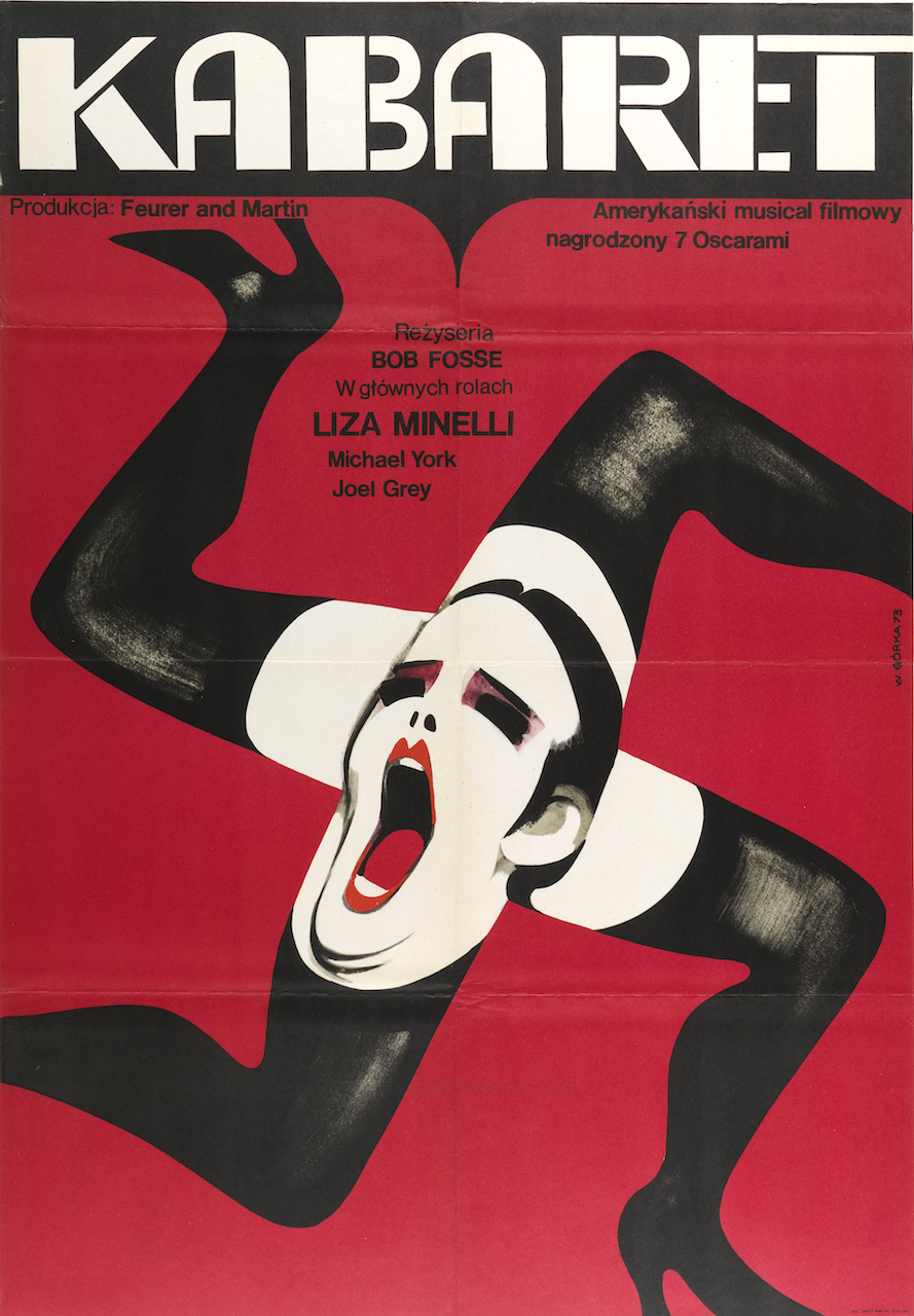 "Wiktor Górka, ""Kabaret (Cabaret)"" (1973), offset lithograph, 32 15/16 x 22 13/16 in. (Photo by Matt Flynn, courtesy Cooper Hewitt, Smithsonian Design Museum)"