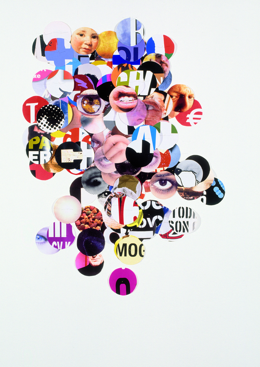"""Rianne Petter and René Put, """"Poster No. 524: Focal Point"""" (2012), cut paper, 46.5 x 33 in. (Courtesy of the designers)"""