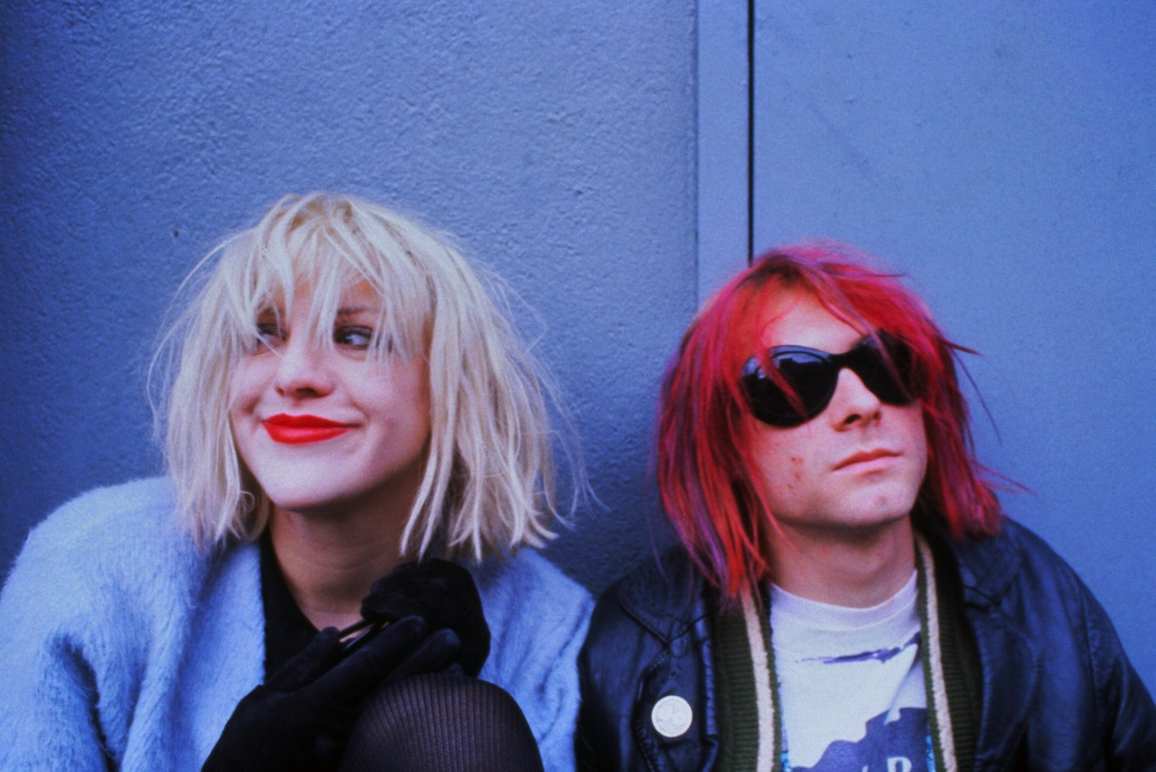 Kurt Cobain and Courtney Love (photo credit Dora Handel/Corbis)