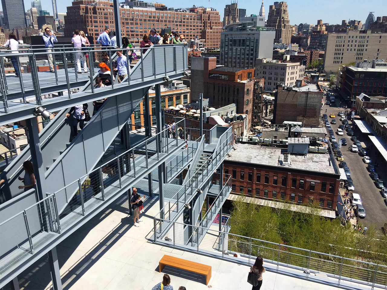The new Whitney Museum's stepped terraces
