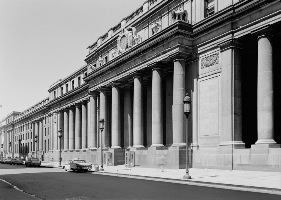 Façade of Pennsylvania Station (1962) (via Library of Congress)