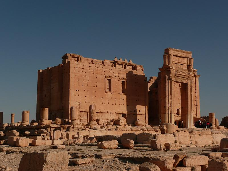 The Temple of Baal shrine at Palmyra (photo by Graham van der Wielen/Wikimedia Commons)