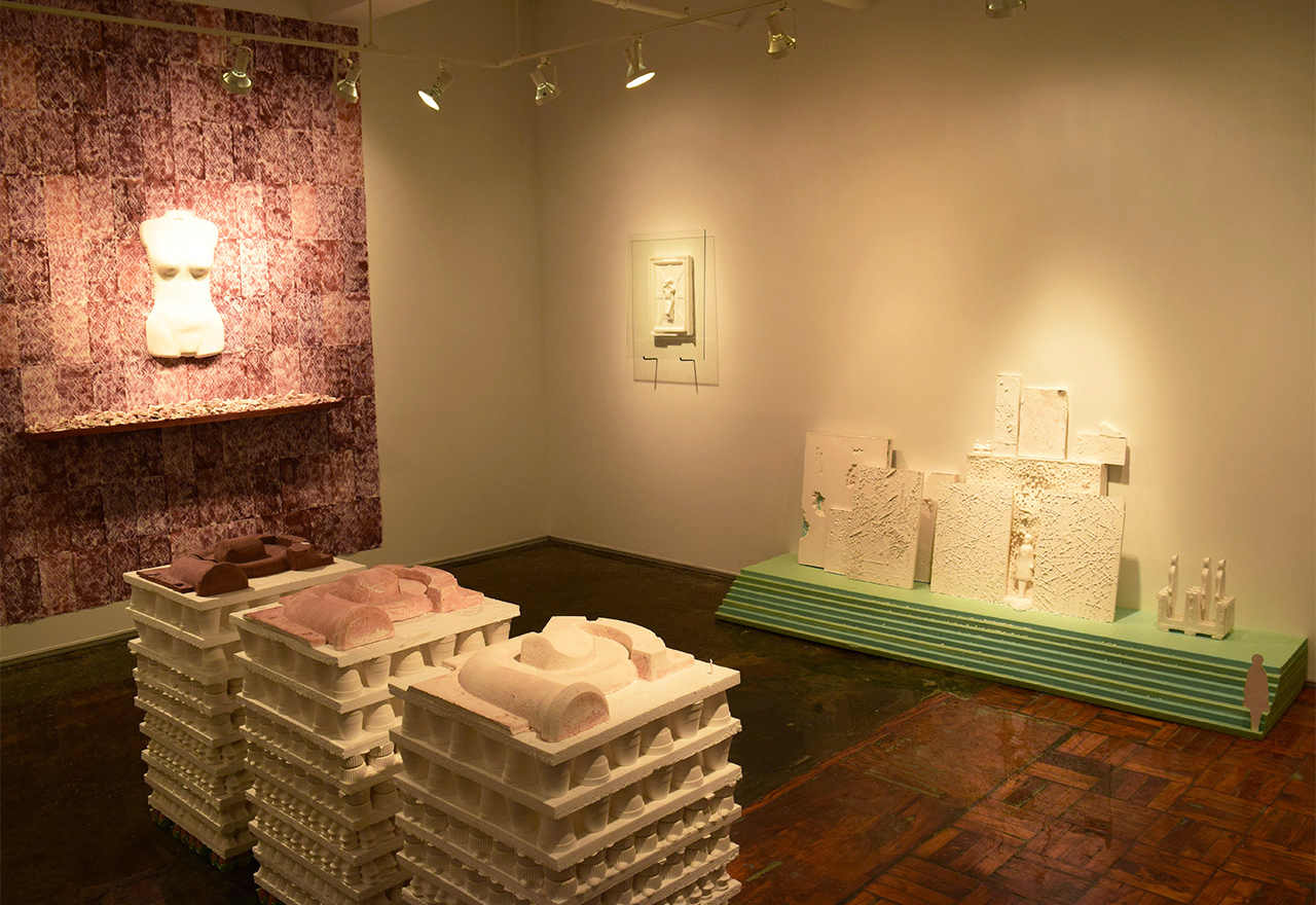 Installation view of Sara Mejia Kriendler's 'The Anthropocene' at A.I.R. Gallery