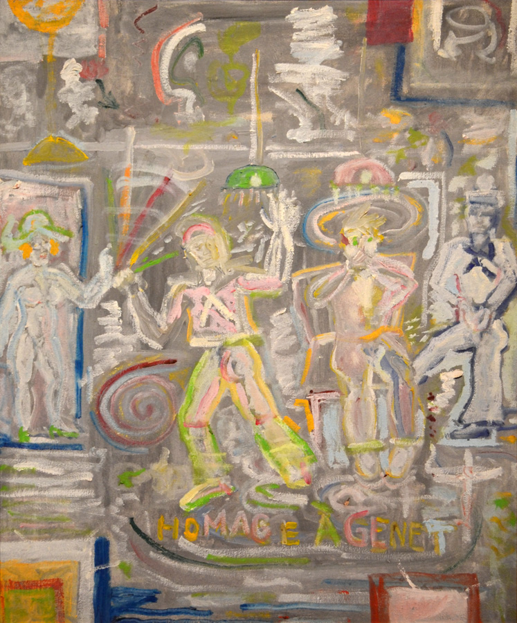"""Tennessee Williams, """"Homage à Genet"""" (1976), Oil on Canvas (courtesy Ogden Museum of Southern Art)"""