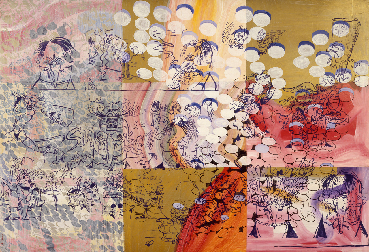 Sigmar polke s dreamy trippy art went deeper than pop for Art and craft drawing and painting