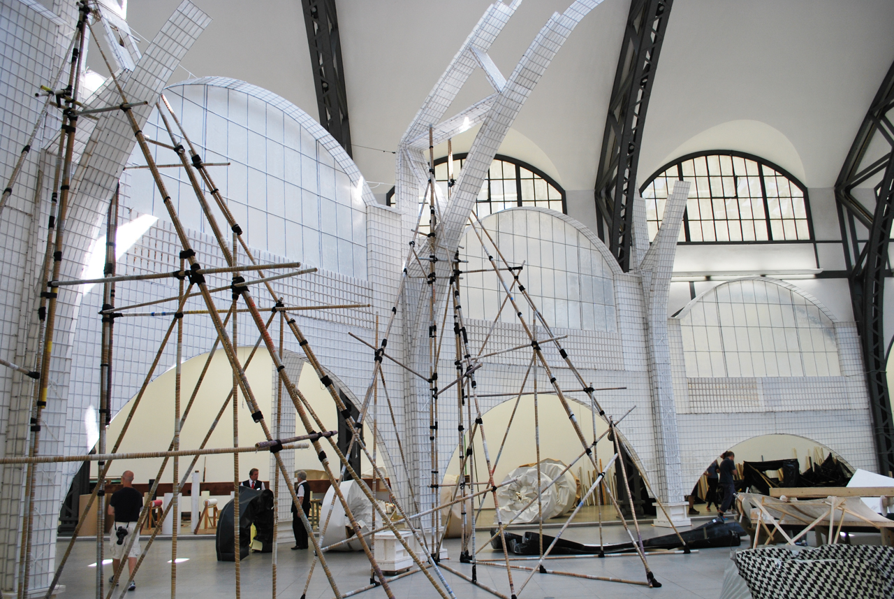 "Michael Beutler, installation shot of ""Moby-Dick,"" (2015)"
