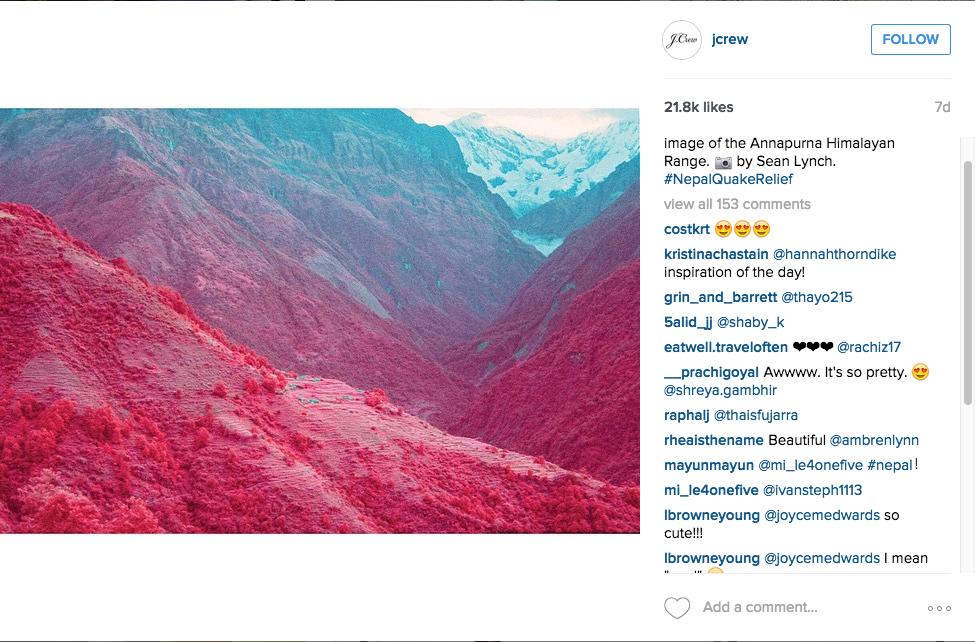 (screenshot via @jcrew/Instagram)