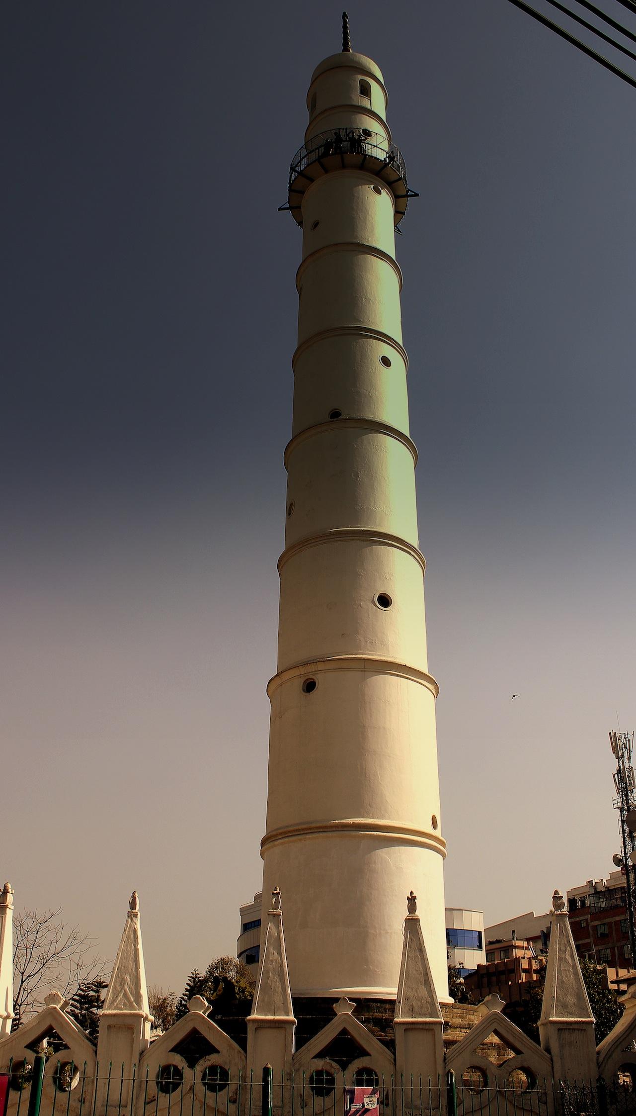 Dharahara Tower before the earthquake (Image via Wikimedia)