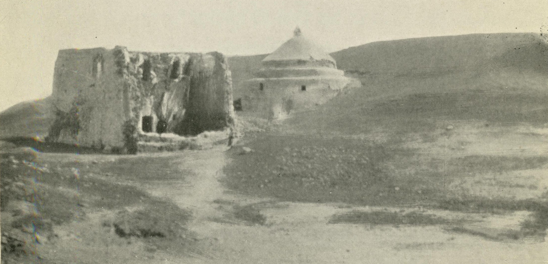 """Tomb of Mar Behnam and Mart Sarah as it appeared in the early 1920s. From Harry C. Luke, """"Mosul and its Minorities."""""""