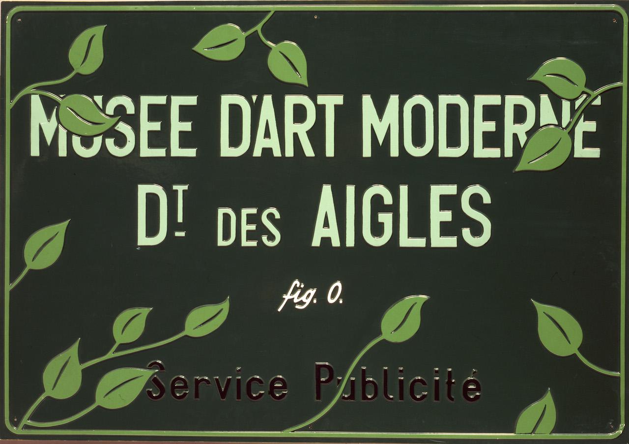 Musée d'Art Moderne, Département des Aigles, Section Publicité © Estate Marcel Broodthaers