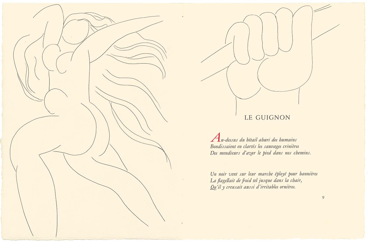 Henri Matisse's illustration for Poésies de Stéphane Mallarmé (The Poetry of Stéphane Mallarmé))Lausanne, Switzerland: Albert Skira & Cie, 1932) (© 2015 Succession H. Matisse / Artists Rights Society, New York)