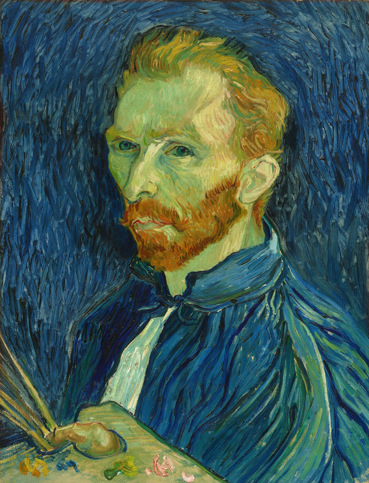 Self-Portrait, August 1889, Oil on canvas, National Gallery of Art, Washington D.C. (F626, JH1770) [1]