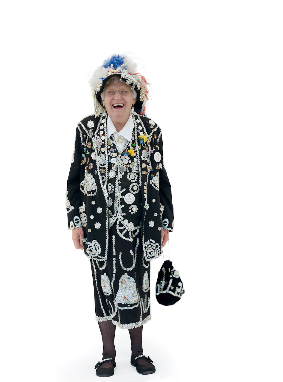 Lily York, Queen of Smithfield Market, Pearly Kings and Queens, Wimbledon Village Fair, London. © 2015 Henry Bourne