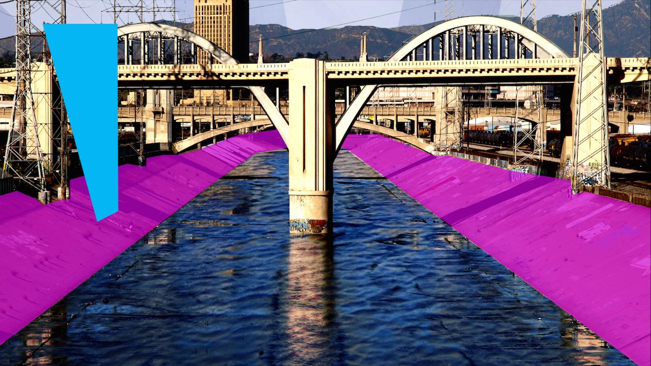 Rendering of 'Current: LA River' in Los Angeles (image courtesy Bloomberg Philanthropies)