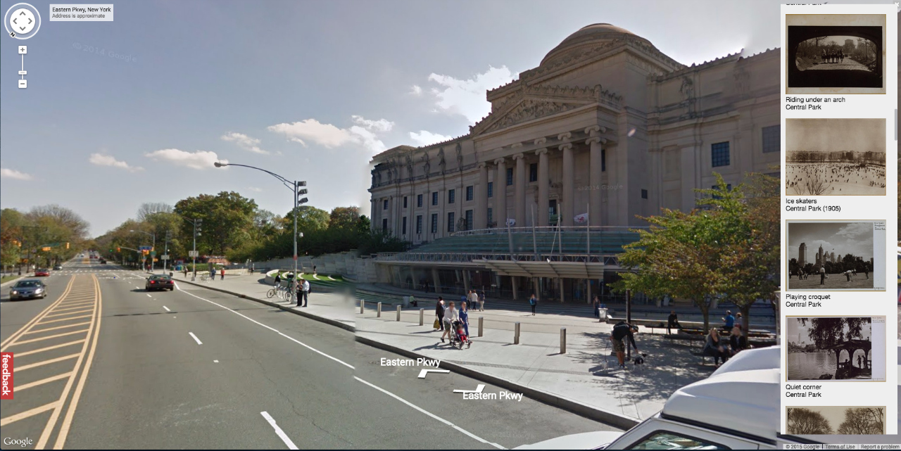 The Brooklyn Museum today on Google Maps