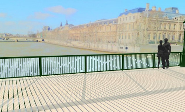 A proposed design for the bridge railing by architect Colin Kovaks (Image courtesy Colin Kovaks)