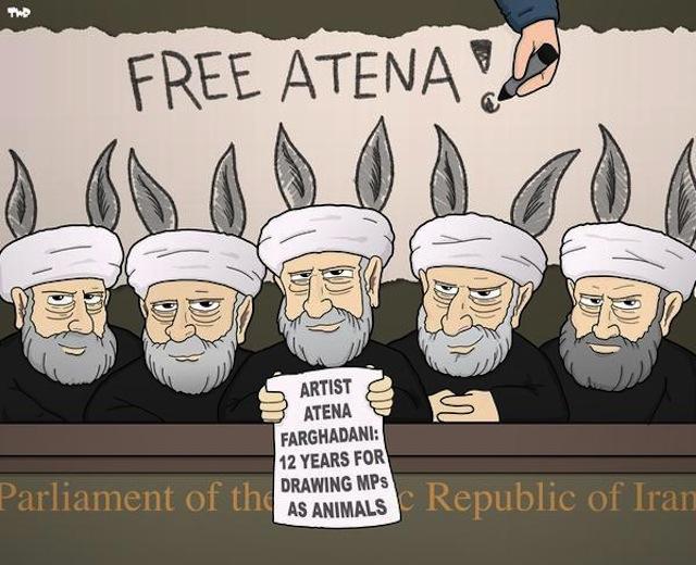 A cartoon by Tjeerd Royaards (Image via Twitter/Royaards)