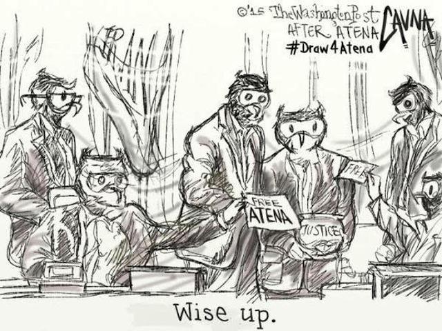 A cartoon by Michael Cavna (Image via Twitter/comicriffs)